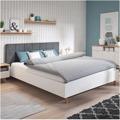 Manželská postel s roštem 180x200 čalouněná bílá a šedá TK3136 (720853) - 2