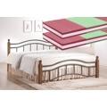 Manželská postel 160x200 cm v klasickém stylu s roštem a matracemi KN368 (566561) - 1