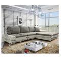 Univerzální sedací souprava s úložným prostorem v kombinaci bílé a šedé barvy TK157 (362985) - 4