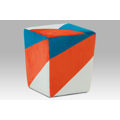 Taburetka modrá, oranžová, krémová TAB-107 ORA2 (366690) - 1