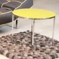 Kulatý konferenční stolek 55 cm se skleněnou černou deskou na kovové podnoži DO048 (792798) - 6