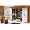 Úzká šatní skříň 50 cm s dveřmi v dekoru jasan světlý a korpusem v dekoru jasan tmavý typ R4 F2010 (573941) - 2
