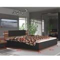 Manželská postel s LED osvětlením 180x200 v dekoru ořech a černá TK3119 (554169) - 3