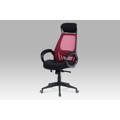 Kancelářská židle se synchronním mechanismem černá látka a červená MESH KA-G109 RED AKCE (364000) - 1