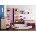Dětská komoda v dekoru dub kremona a lavenda ve fialové barvě typ G06 KN083 (367453) - 2