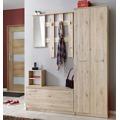 Předsíňová stěna RENO ( věšák, botník, zrcadlo, skříň ) (358401) - 1