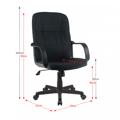 Kancelářské křeslo, černá, TC3-7741NEW (531297) - 2