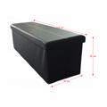 Větší skládací obdélníkový taburet v černé ekokůži TK330 (531443) - 2