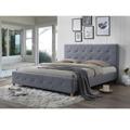 Manželská postel 180x200 cm s roštem šedá látka TK3011 (531399) - 1