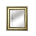 Zrcadlo ve zlatém provedení s dřevěným rámem TYP 10 TK2200 (533899) - 2