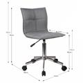 Kancelářská židle v šedé barvě TK2054 (530818) - 2
