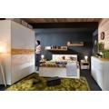 Manželská postel BARI LOZ/160 bílá/dub přírodní/bílá lesk 160x200 cm (361719) - 6