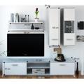 Obývací stěna, beton / bílá, WAW (533423) - 2