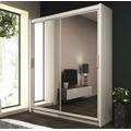 Moderní šatní skříň 120 cm s posuvnými dveřmi v bílé barvě KN453 (482876) - 1