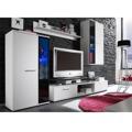 Obývací stěna bílá ve stylovém moderním provedení SALESA (349309) - 1