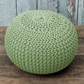 Pletený bavlněný taburet světle zelené barvy TYP 1 TK264 (529886) - 2