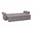 Rozkládací šedá pohovka s krémovým lemováním a polštářky TK325 (531459) - 3