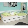 Jednolůžková postel 90x200 bílá TK051 (366511) - 2