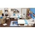 Dětská šatní skříň v dekoru dub nova a bílé barvy typ levá G00 KN083 (362856) - 3