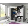 Dětský pokoj v šedé barvě fialové úchytky F1180 (504350) - 1