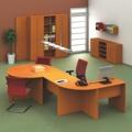 Kancelářský stůl s obloukem, trěšeň, TEMPO AS NEW 022 (360021) - 3
