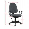 Kancelářská židle v šedé látce TK2056 (530822) - 2