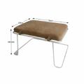 Odlehčený designový taburet v hnědobílých barvách TK338 (531448) - 2