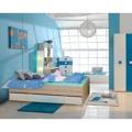 Jednolůžková postel 90x200cm v dekoru dub sonoma s bílými zásuvkami TK051 (366510) - 3