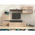 Obývací stěna v trendy jednoduchém provedení dub sonoma a grafit JET (363019) - 1