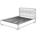 Manželská postel 180x200 cm s čalouněním v šedé barvě KN449 (482534) - 2