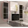 Skříňka koupelnová vysoká v kombinaci černý lesk a bílá BL11 TK3067 (597410) - 1