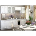 Kuchyňská linka 260 cm bílá se vzorem KN2006 (789613) - 1