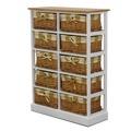 Komoda, 10 košíků, bílá / medový, GINGER 2 (359500) - 1