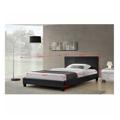 Manželská postel 160x200 cm s lamelovým roštem černá ekokůže TK3019 (531411) - 2