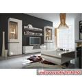 Komoda třídveřová s LED osvětlením v luxusní bílé barvě ve vysokém lesku TK026 TYP 42 (348748) - 4