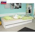 Jednolůžková postel 90x200 bílá TK051 (366511) - 3