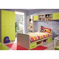 Pracovní stůl 104x50 cm v dekoru jasan v kombinaci s hráškovou barvou KN1813 (348479) - 2