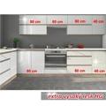 Kuchyňská linka ENILE 260 cm bílý vysoký lesk (359690) - 3
