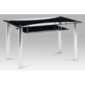 Jídelní stůl 130x80x75 cm, skleněný HT-415 BK (366443) - 1