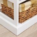 Komoda, 6 košíků, bílá / medová, GINGER 1 (359542) - 3
