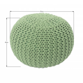 Pletený bavlněný taburet světle zelené barvy TYP 1 TK264 (529886) - 3