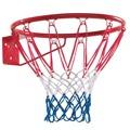 Basketbalový koš červený kovový (577351) - 1