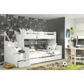 Dětská patrová postel bílé barvy F1022 (398334) - 1