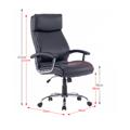 Kancelářské křeslo, černá ekokůže, KERMIT (531334) - 2