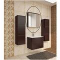 Skříňka koupelnová se zrcadlem wenge WE14 TK3067 (597413) - 1