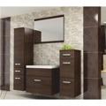 Vysoká závěsná koupelnová skříňka wenge HENRY (356328) - 2