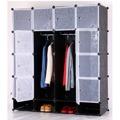 Šatní organizér, plast / kov, černý, RODAN TYP 2 (533827) - 1