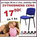 Konferenční židle v jednoduchém moderním provedení červená ISO NEW (353334) - 2