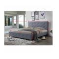 Manželská postel 180x200 cm s roštem šedá látka TK3011 (531399) - 2