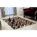 Luxusní koberec, kůže, typ patchworku, 170x200 cm, KOBEREC KOŽA typ2 (533299) - 1